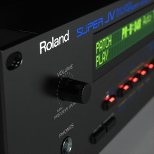 3d model synth roland jv-1080
