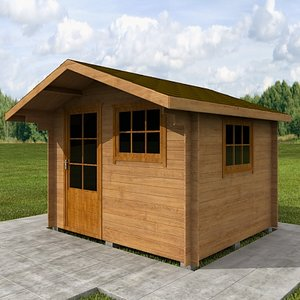 3d wood hause