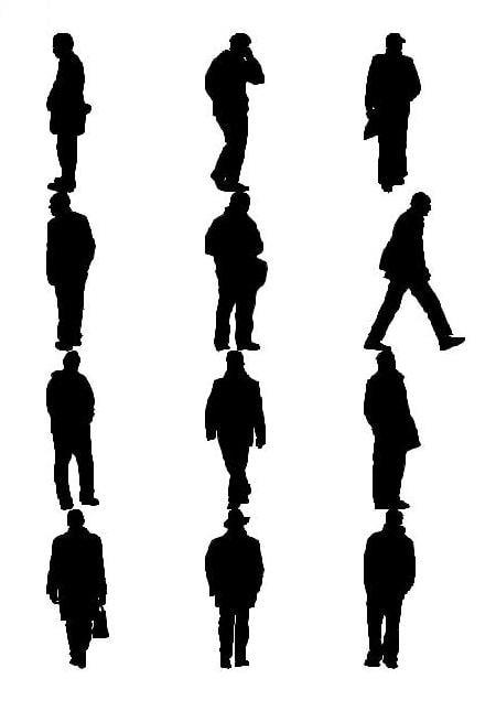 man silhouettes 3d model
