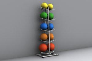 3d ball rack model