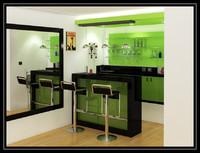 residential bar 3d 3ds