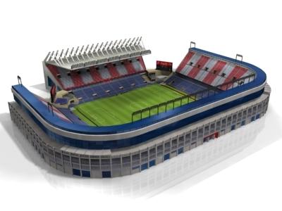 vicente calderon stadium 3d model