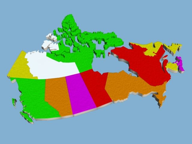 simple canada mapping obj