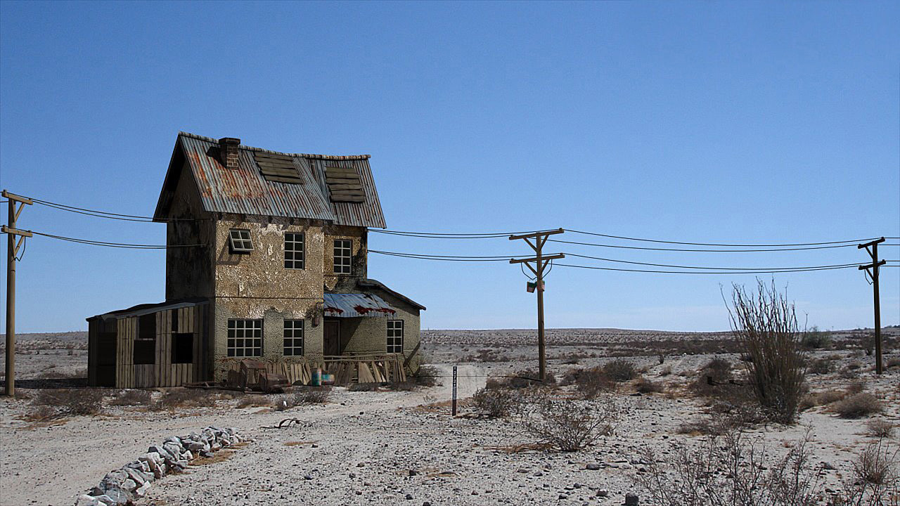 3d model old house desert