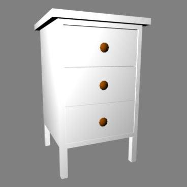 3d model drawer