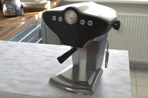 espresso machine obj