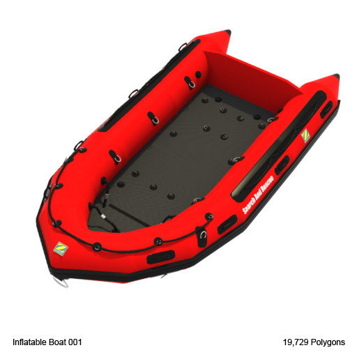 3d model inflatable boat
