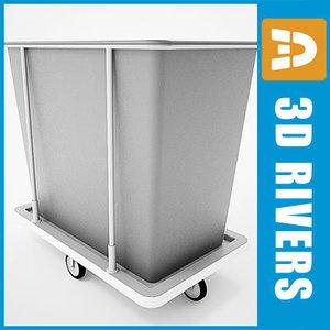 laundry cart 3d max