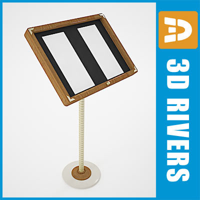 free 3ds model menu stand