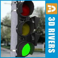 3d model traffic lights 01