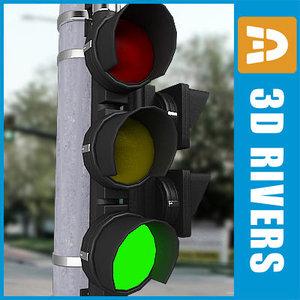 3d model traffic lights 01