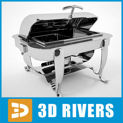 3d rectangular chafing dish model