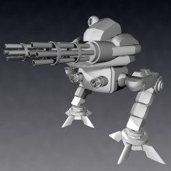 3d model mech warrior