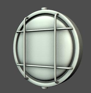 obj nautical light fixture