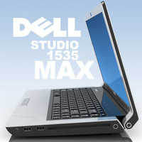 notebook dell studio 1535 3d model