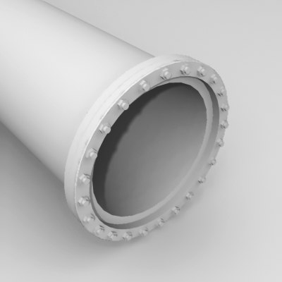 3d pipe section model