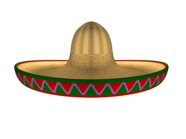 mexican hat 3d max