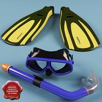 swim set 3d model