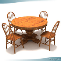 Rustic Round Top Table