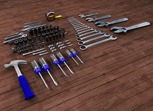3d model craftsman hand tools rolling