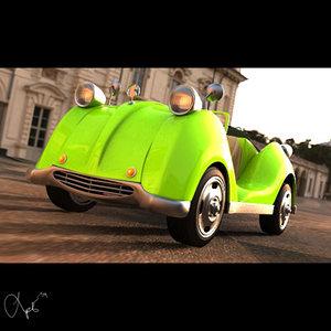 3d car toon model