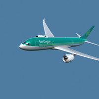 3d a350-800 aer lingus model
