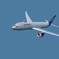 3d model of a350-800 aeroflot