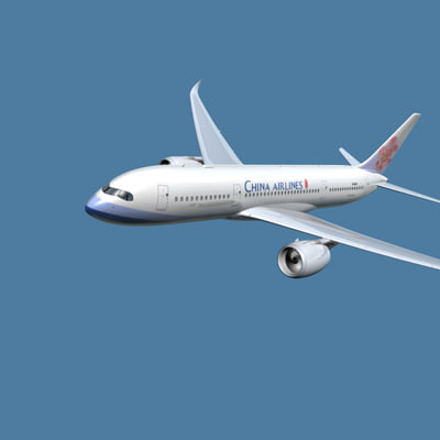 a350-800 china 3d 3ds