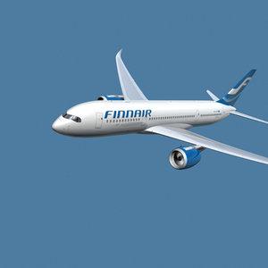 a350-800 finnair 3d max