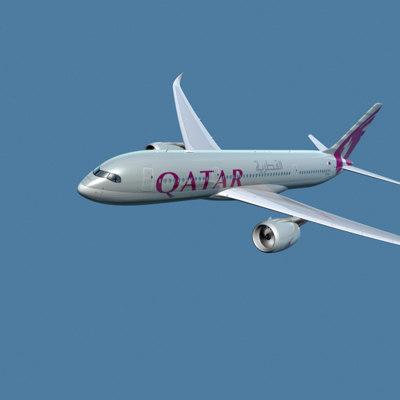 3d a350-800 qatar