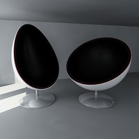 pod egg chairs 3d model