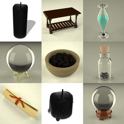 witch tools 3d model