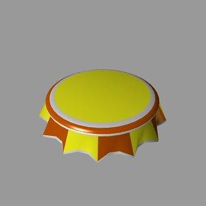 free bottle cap 3d model