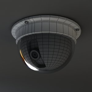 security camera 03 dome 3d model