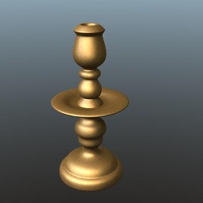 3d model dutch candlestick