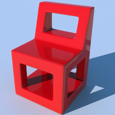 3ds easy plastic chair