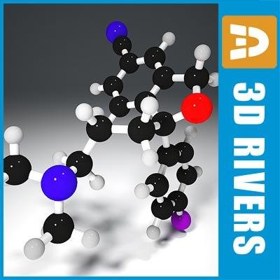 citalopram molecule structure 3d max