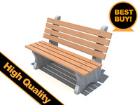 3d model of streets bench