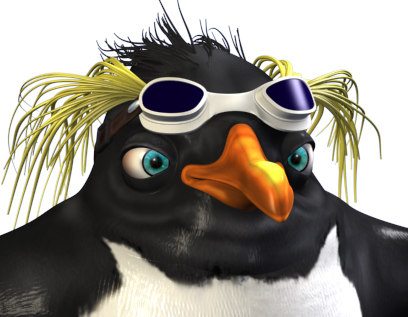 3ds max penguin character