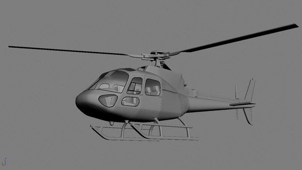 eurocopter as350 helicopter 3d x