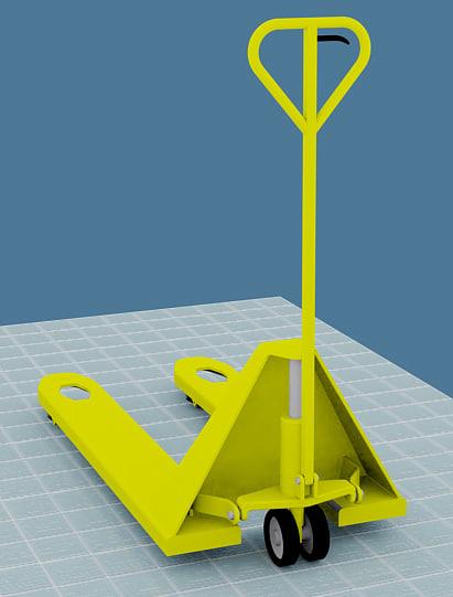 manual forklift industry lifter 3d model