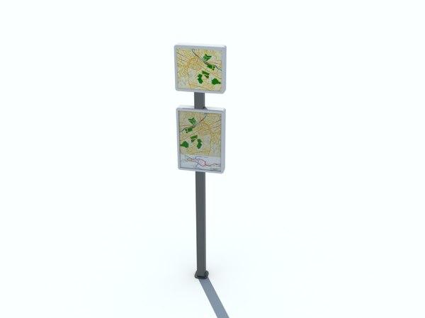 3d information board model