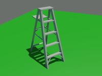 ladder climbing 3d model
