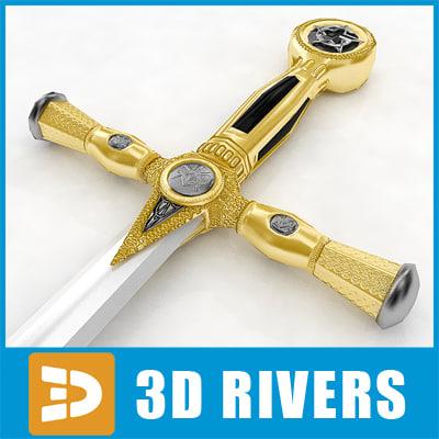 3d model mason sword