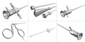 medical arthoscope tools 3d model