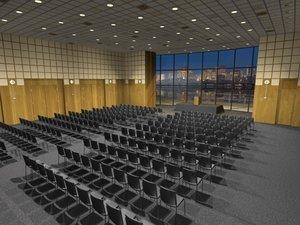 auditorium seats stage obj