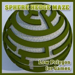 sphere hedge maze dxf