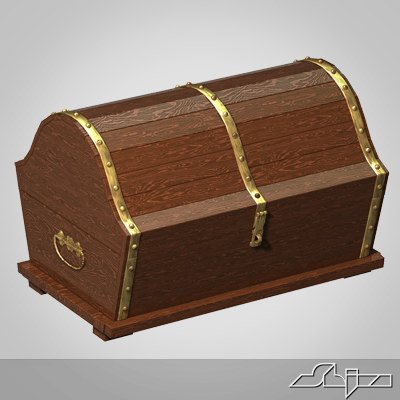 old chest 3d max