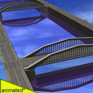 3d model cities river