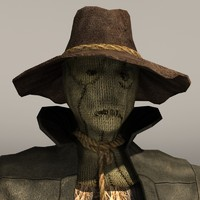 scarecrow crow scare 3d model